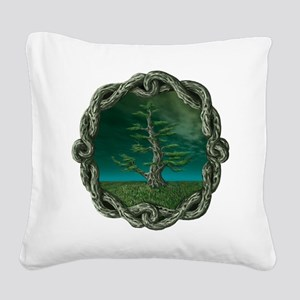 Celtic Knot Tree Square Canvas Pillow