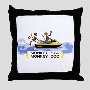 MonkeySea MonkeyDoo Throw Pillow