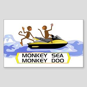 MonkeySea MonkeyDoo Rectangle Sticker