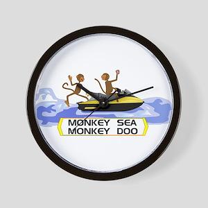 MonkeySea MonkeyDoo Wall Clock