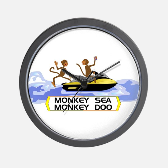 MonkeySea MonkeyDoo Wall Clock