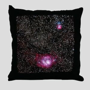 Lagoon (M8) and Trifid (M20) nebulae Throw Pillow