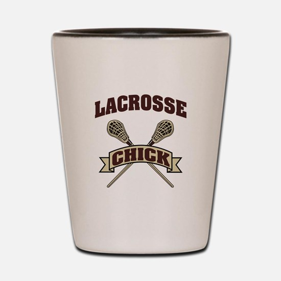 Lacrosse Chick Shot Glass