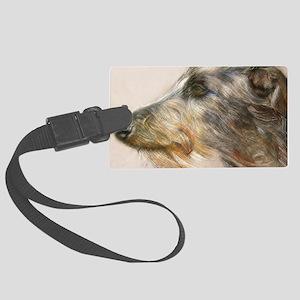 Scottish Deerhound Pastel Large Luggage Tag