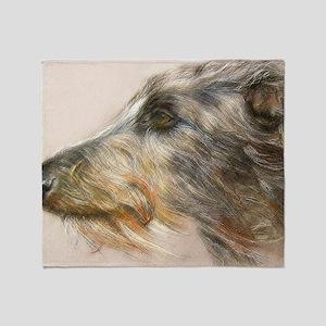 Scottish Deerhound Pastel Throw Blanket