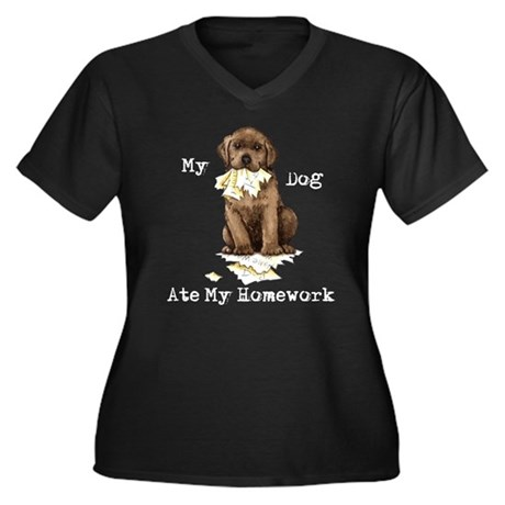 Lab Ate Homework Plus Size T-Shirt