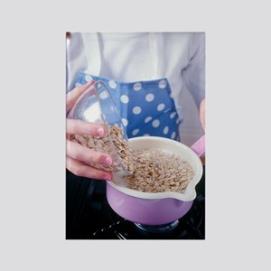 Making porridge from oats Rectangle Magnet
