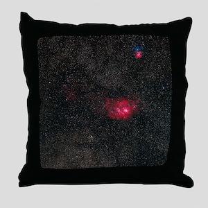 Lagoon and Trifid nebulae Throw Pillow