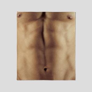 Man's abdomen Throw Blanket