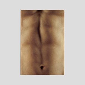 Man's abdomen Rectangle Magnet