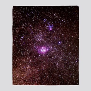 Lagoon and Trifid nebulae Throw Blanket