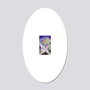 loved hands holding a human  20x12 Oval Wall Decal