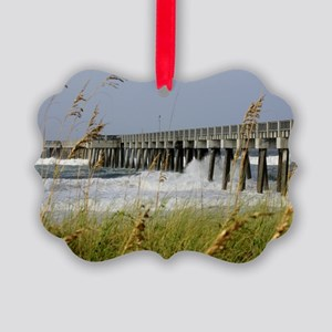 Panama City Pier Picture Ornament