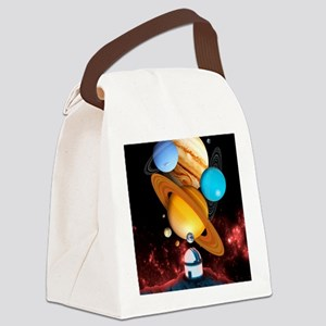 Observing the planets Canvas Lunch Bag