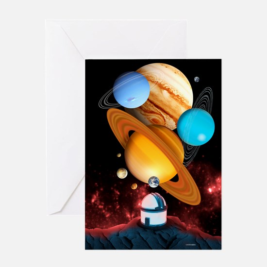 Observing the planets Greeting Card