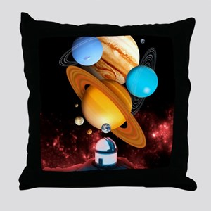 Observing the planets Throw Pillow