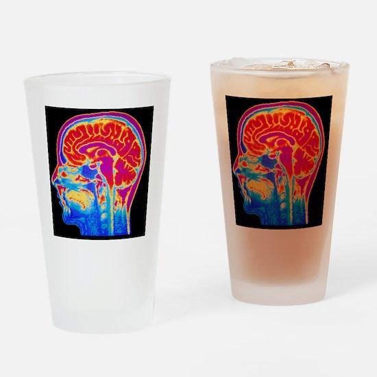 MRI scan of normal brain Drinking Glass
