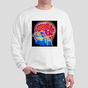 MRI scan of normal brain Sweatshirt