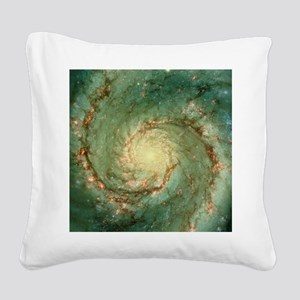 M51 whirlpool galaxy Square Canvas Pillow