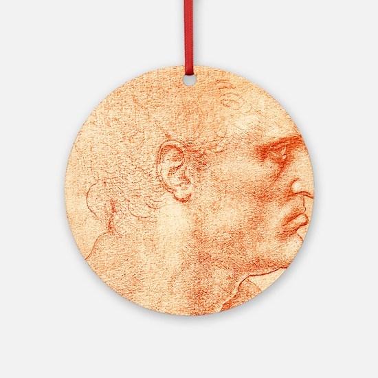 Man's head Round Ornament