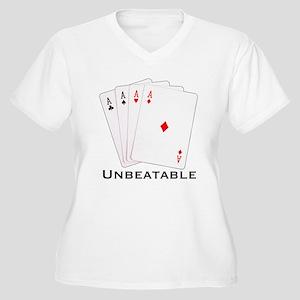 Unbeatable -  Women's Plus Size V-Neck T-Shirt