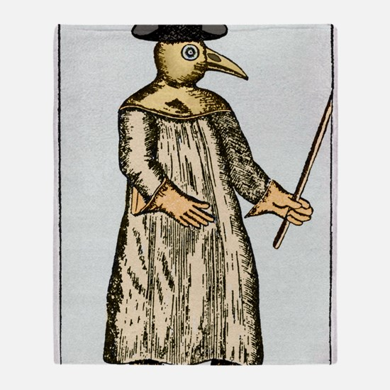 Plague doctor, France, 18th century Throw Blanket