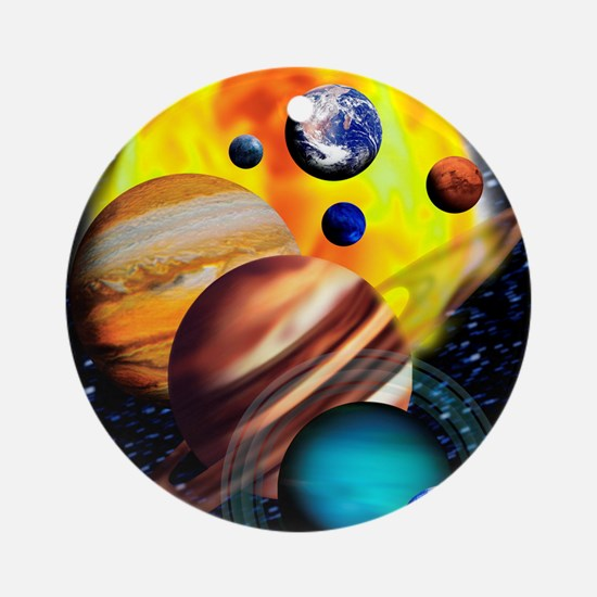 Planets Round Ornament