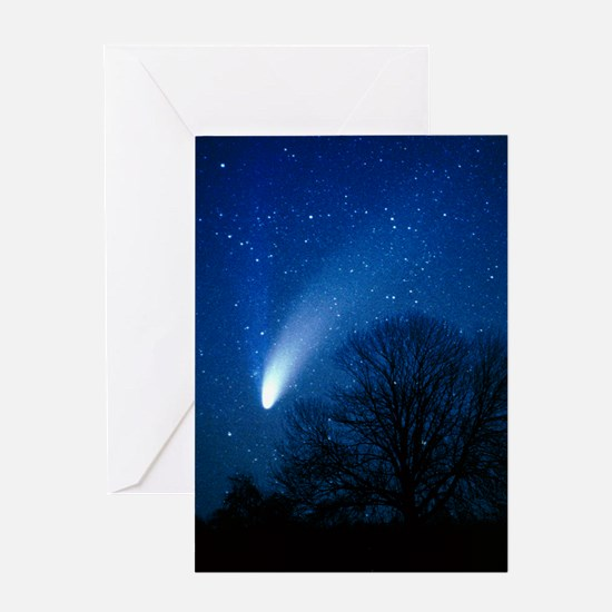 Optical image of comet Hale-Bopp, 6  Greeting Card