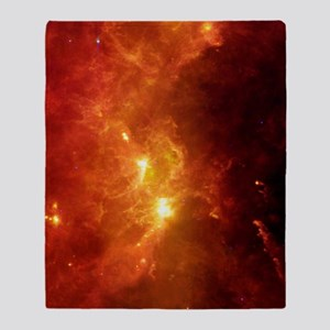 Orion nebula, infrared image Throw Blanket