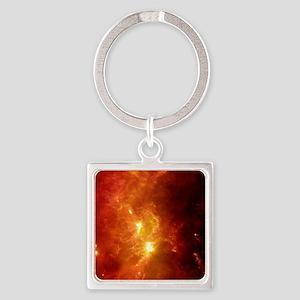 Orion nebula, infrared image Square Keychain