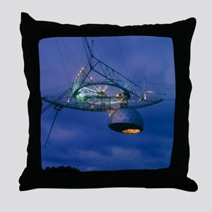 Radome of the upgraded Arecibo radio  Throw Pillow