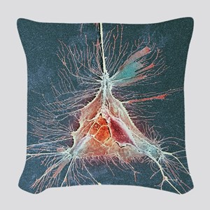Nerve support cell, SEM Woven Throw Pillow