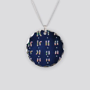 Normal female chromosomes Necklace Circle Charm