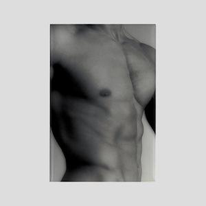 Nude man's torso Rectangle Magnet