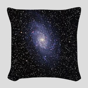 Pinwheel galaxy Woven Throw Pillow