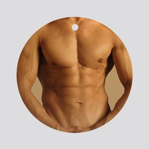 Nude man Round Ornament