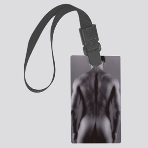 Nude man Large Luggage Tag