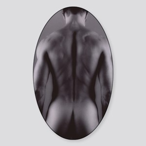 Nude man Sticker (Oval)