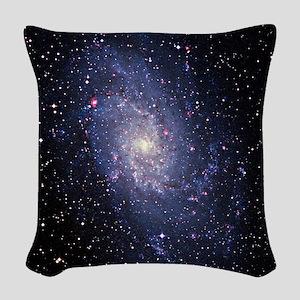 Pinwheel galaxy (M33) Woven Throw Pillow