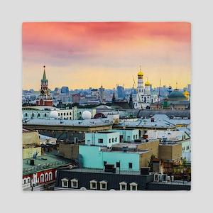 Cityscape landscape Moscow historical Queen Duvet