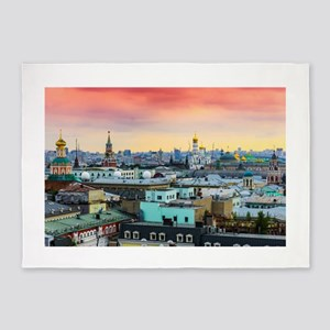 Cityscape landscape Moscow historic 5'x7'Area Rug