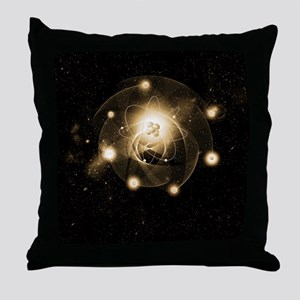 Atom, artwork Throw Pillow