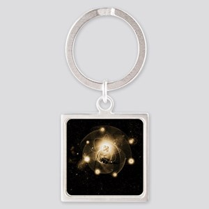 Atom, artwork Square Keychain