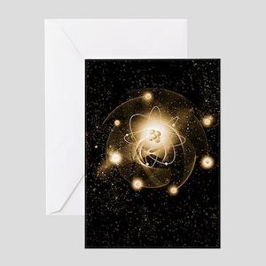 Atom, artwork Greeting Card