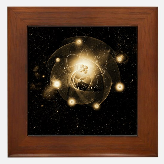 Atom, artwork Framed Tile
