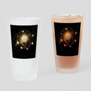 Atom, artwork Drinking Glass