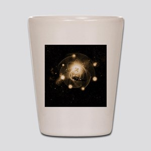 Atom, artwork Shot Glass