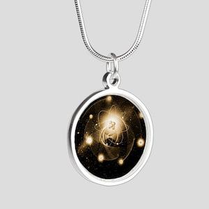 Atom, artwork Silver Round Necklace