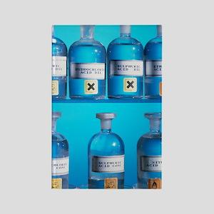 Acid bottles Rectangle Magnet