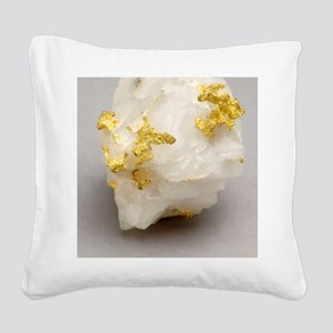 Gold in placer Square Canvas Pillow